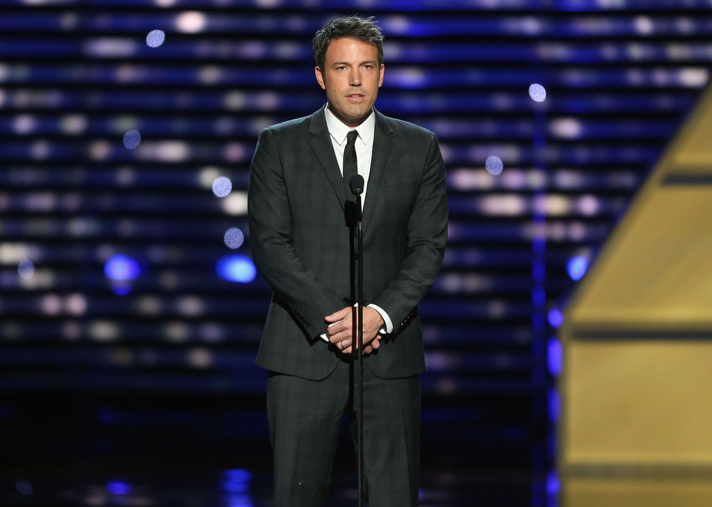 . LOS ANGELES, CA - JULY 17:  Actor Ben Affleck onstage to present Jimmy V award at The 2013 ESPY Awards at Nokia Theatre L.A. Live on July 17, 2013 in Los Angeles, California.  (Photo by Frederick M. Brown/Getty Images for ESPY)