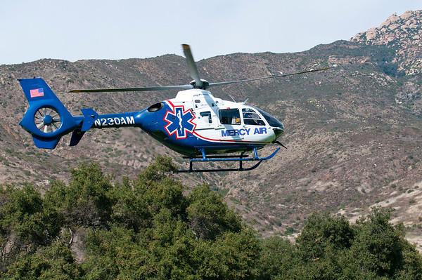 Mercy Air Transports Motor Cycle Crash Victim
