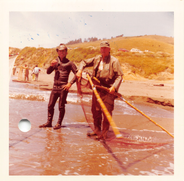 Surf fishing in Ft. Bragg, June 1971 with Roy Adrevemo