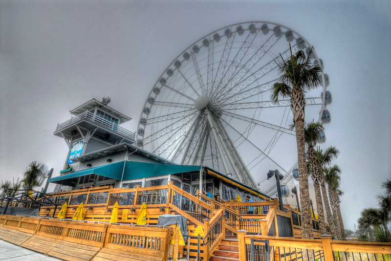 Heavy fog obscures the SkyWheel Myrtle Beach in Myrtle Beach, SC on Friday, March 2, 2012. Copyright 2012 Jason Barnette