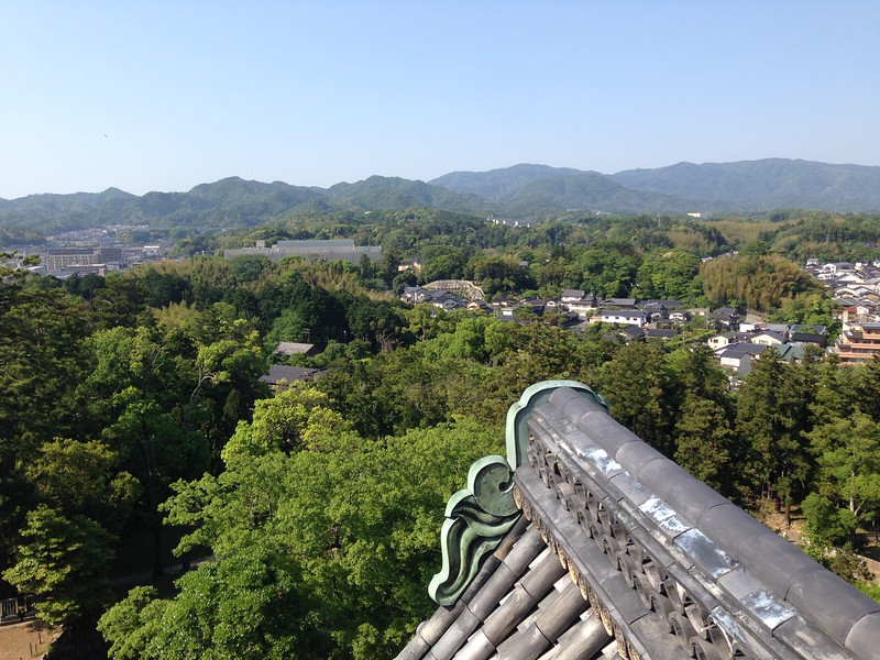View from atop Matsue Castle - Leslie Rowley S95