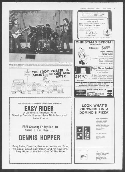 Daily Trojan, Vol. 92, No. 60, December 07, 1982