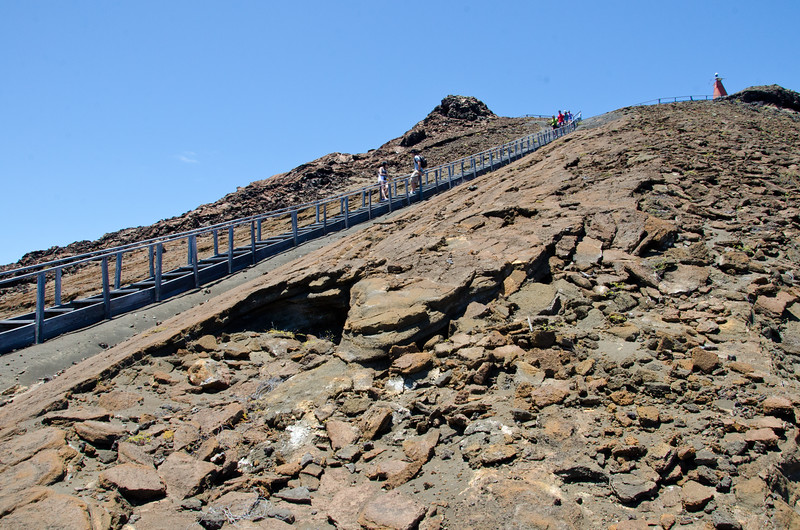 The LAST of the 360 steps to the summit. Ugh!