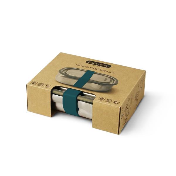 Stainless Steel Lunch Box ocean packaging Black Blum