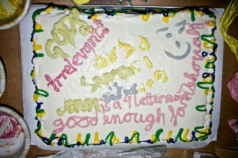 Non-vegan AHA cake
