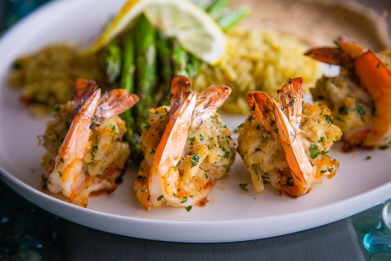 Lump crab meat stuffed shrimp at Catch Clean Cook Marketplace and Deli on Alternate A1A in North Palm Beach, Monday, June 1, 2020. [JOSEPH FORZANO/palmbeachpost.com]