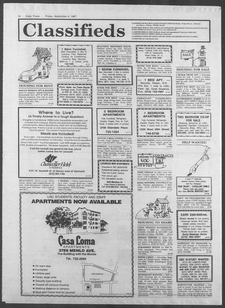 Daily Trojan, Vol. 105, No. 4, September 04, 1987