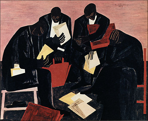 "Jacob Lawrence, ""The Businessmen"" (1947)"