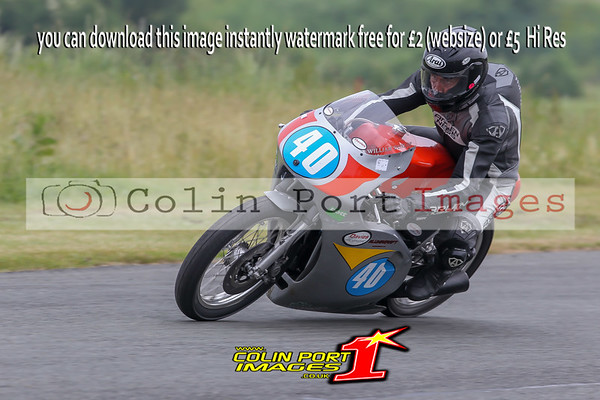 CLASSIC UP TO 350cc TWIN & SINGLE CYL RACES 12A & 23 AINTREE JUNE 2016