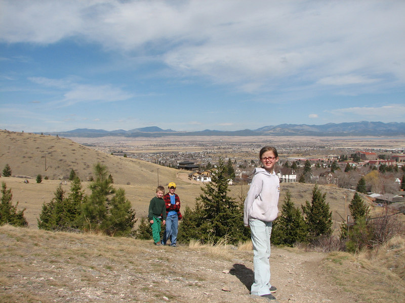 The view from Mt. Helena...with my children...Heather, Jon and Justin