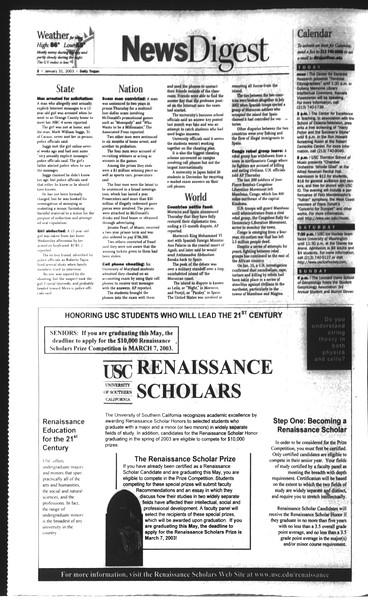 Daily Trojan, Vol. 148, No. 12, January 31, 2003