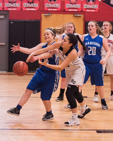 2019 JV Girls Basketball:  Hall-Dale vs Madison