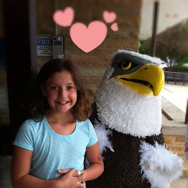 Middle school orientation...and an eagle is the mascot. This should work really well.