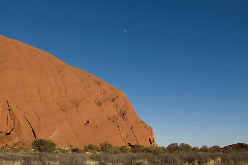 Uluru and Moon 3 - Northern Territory, Australia