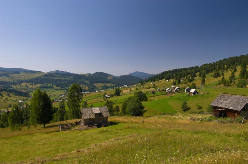 Rural view near Campulung Moldovenest, Moldavia, Romania