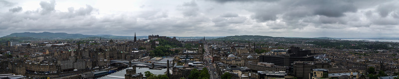Detailed pano of Edinburgh from top of Nelson Monument