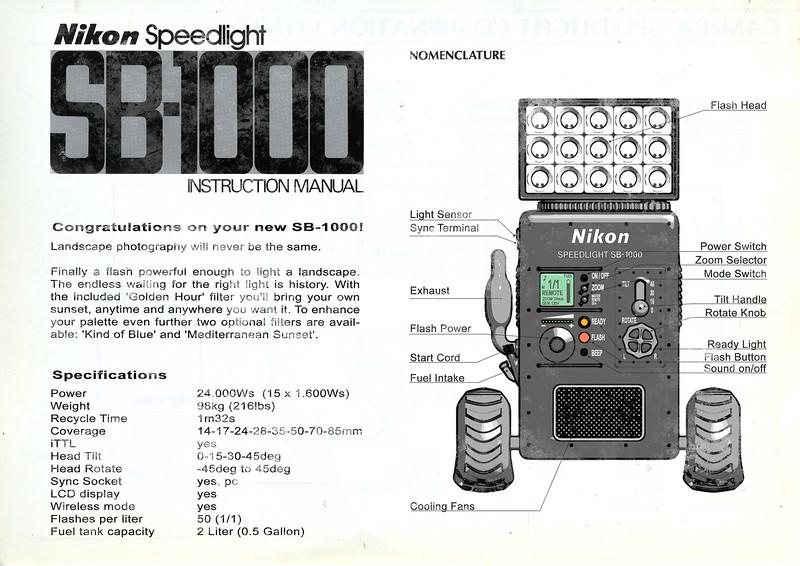 Nikon SB-1000 manual