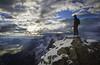 """Last Climb"" X, East end of Mount Rundle, Alberta, Canada."