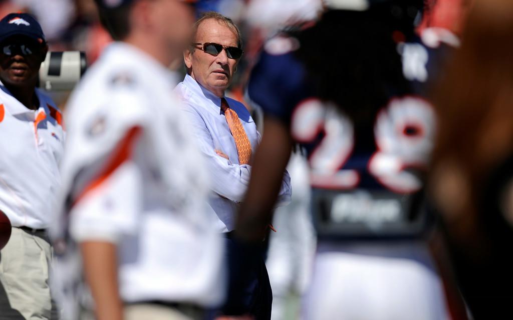 . Denver Broncos owner Pat Bowlen Sunday September 18, 2011 Sports Authority Field at Mile High. John Leyba, The Denver Post
