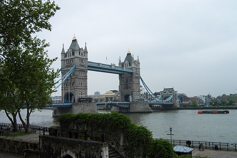 The Tower of London - View of Tower Bridge