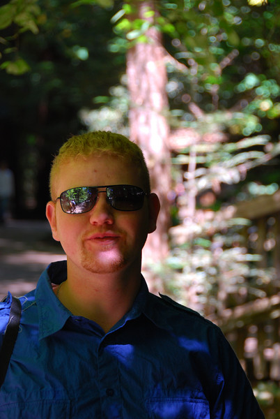 Chance, at Muir Woods, I think.  Hard to tell, really...