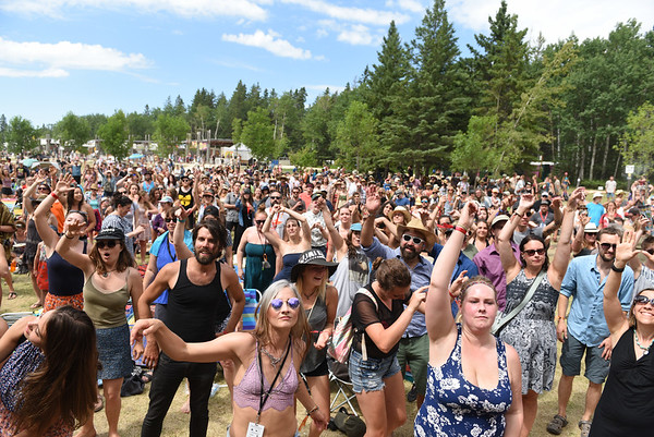 The crowd grooves to the beats of Desi Sub Culture at the Snowberry Stage during Folk Fest at Birds Hill Park Sunday July 9, 2017. (David Lipnowski for Metro News)