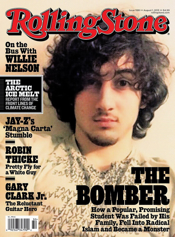 ". <p>13. DZHOKHAR TSARNAEV <p>If he knew it would get him on the cover of the Rolling Stone, he would have bombed Boston Marathon YEARS ago. <p><b><a href=\'http://www.cbsnews.com/news/rolling-stone-defends-cover-featuring-boston-marathon-bombing-suspect/\' target=""_blank\""> HUH?</a></b> <p>    (AP Photo/Wenner Media)"