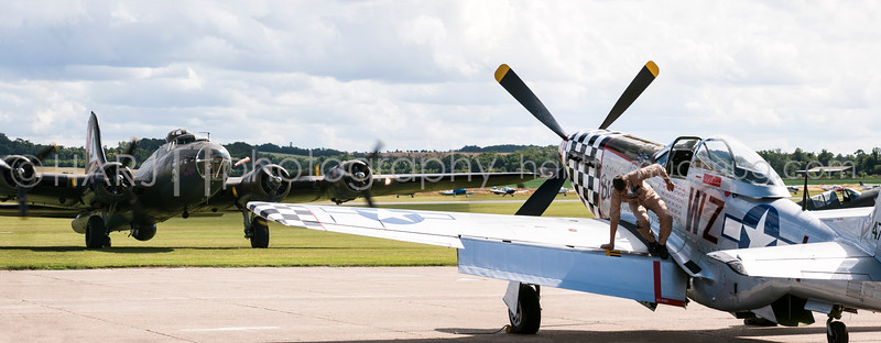 Big Beautiful Doll and Pink Lady - Flying Legends @ Duxford IWF