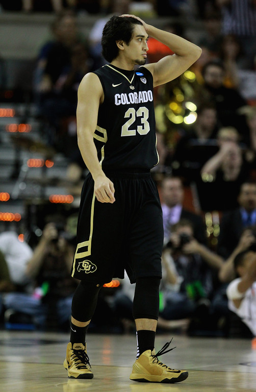 . AUSTIN, TX - MARCH 22:  Sabatino Chen #23 of the Colorado Buffaloes plays against the Illinois Fighting Illini during the second round of the 2013 NCAA Men\'s Basketball Tournament at The Frank Erwin Center on March 22, 2013 in Austin, Texas. Illinois defeated Colorado 57-49. (Photo by Ronald Martinez/Getty Images)