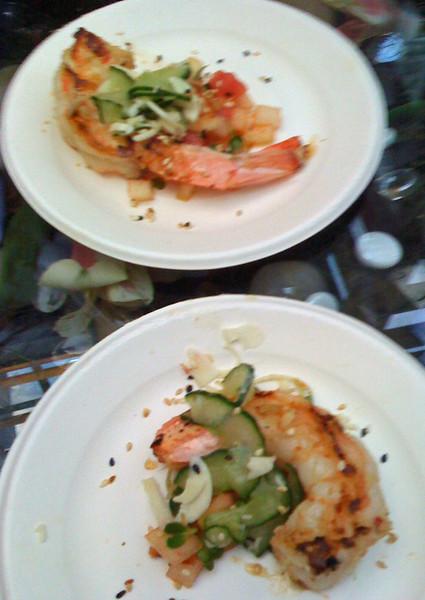 Jumbo spiced Prawns at #TasteCLT