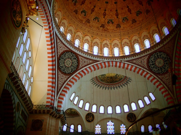 Honey tones inside Suleymaniye Mosque