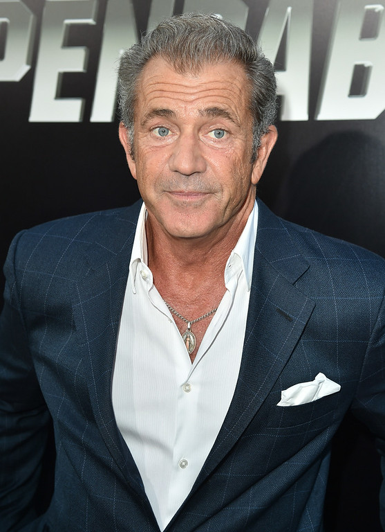 ". Actor Mel Gibson attends the premiere of Lionsgate Films\' ""The Expendables 3\"" at TCL Chinese Theatre on August 11, 2014 in Hollywood, California.  (Photo by Kevin Winter/Getty Images)"