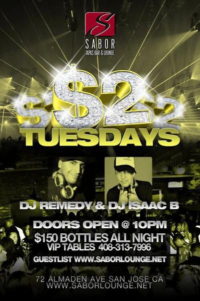 Amir & Galaxy Events presents $2 TUESDAYS @ SABOR Tapas Bar & Lounge 11.23.10