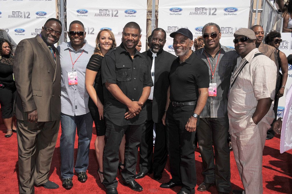 . August 25, 2013: Maze & Frankie Beverly<br /> <br />Frankie Beverly, third form right,  and Maze, arrive at the BET Awards on Sunday, July 1, 2012, in Los Angeles. (Photo by Jordan Strauss/Invision/AP)