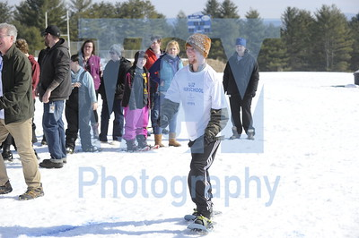 Unified Sports snowshoeing