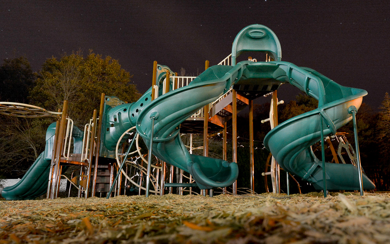 I image that this playground is a regular late-night hangout for Elliott and his friends.