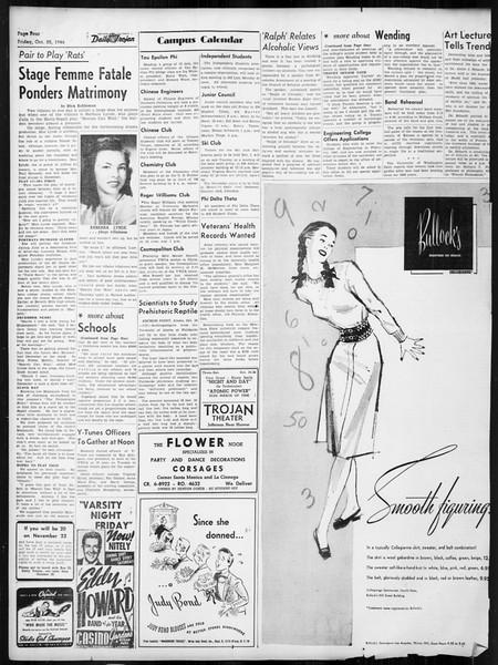 Daily Trojan, Vol. 38, No. 30, October 25, 1946