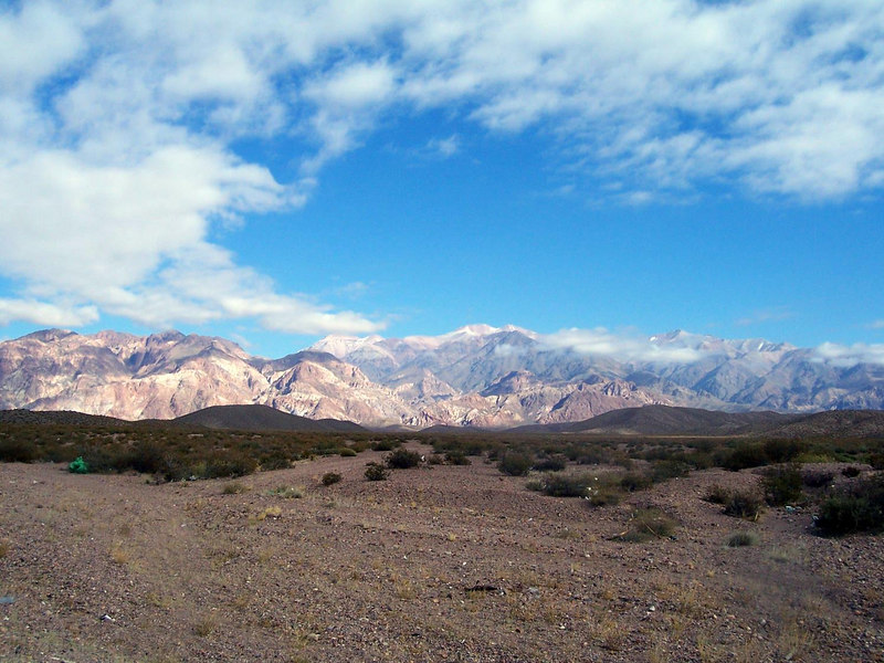 Early morning view of the Andes.