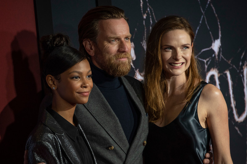 "LOS ANGELES, CALIFORNIA - OCTOBER 29: Kyliegh Curran, Ewan McGregor and Rebecca Ferguson attend the premiere of Warner Bros Pictures' ""Doctor Sleep"" at Westwood Regency Theater on Tuesday October 29, 2019 in Los Angeles, California. (Photo by Tom Sorensen/Moovieboy Pictures,)"