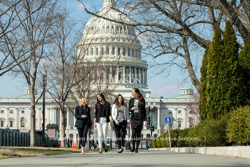 Student Advocacy Day on Capitol Hill – students from George Mason University's Department of Social Work connect with members of Congress about the issues that are important to them.  Photo by:  Ron Aira/Creative Services/George Mason University