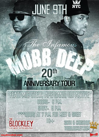 MOBB DEEP 20th anniv tour Philly