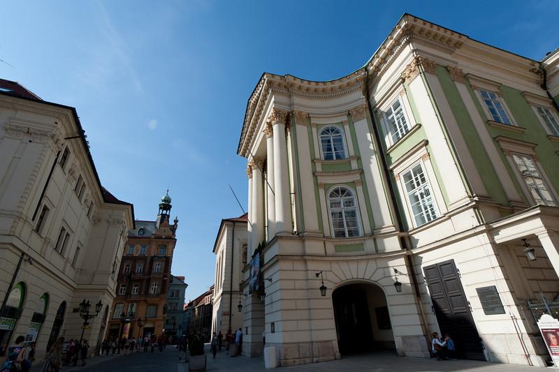 Side profile of the Prague Estates Theatre - Prague, Czech Republic