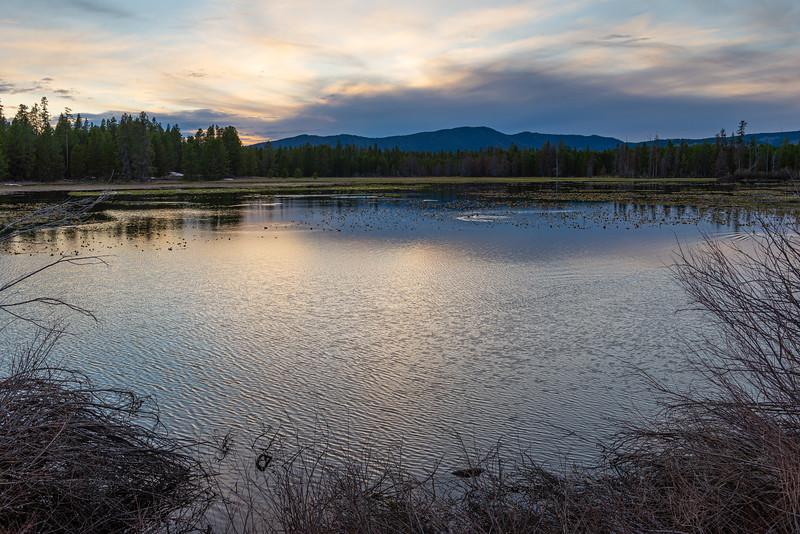 Mountain Pond Sunset