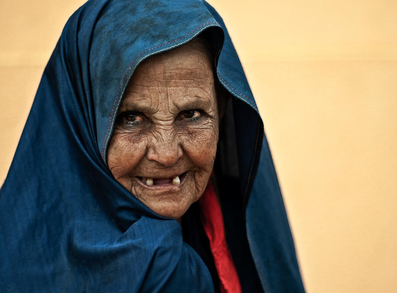 Portrait of a woman in Tafraoute.