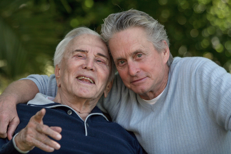 Kirk Douglas and his son, Michael Douglas 2009