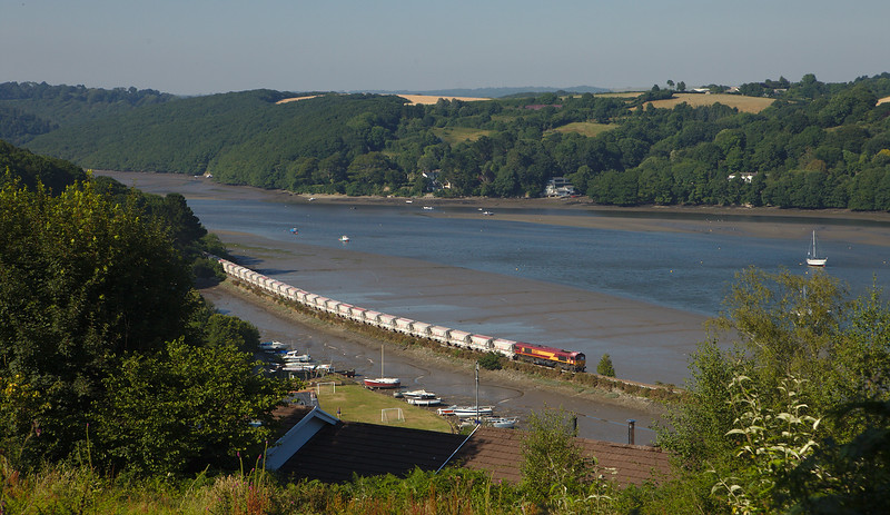 DB Schenker 66031 on the china clay loads 655N Goonbarrow Jn to Fowey Dock Carne Point