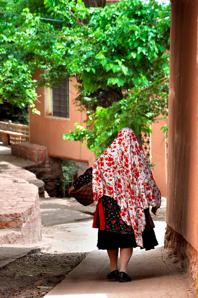 local Abyaneh women, Iran