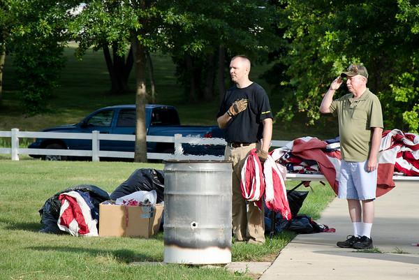 2012 Flag Day Salem County Cemetery Retiring Old Glory