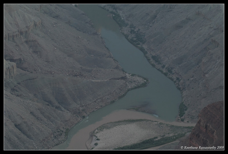 Confluence of Colorado river & Little Colorado River, Grand Canyon, Arizona, September 2009
