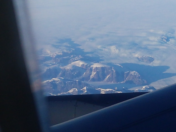 Greenland seen from the plane